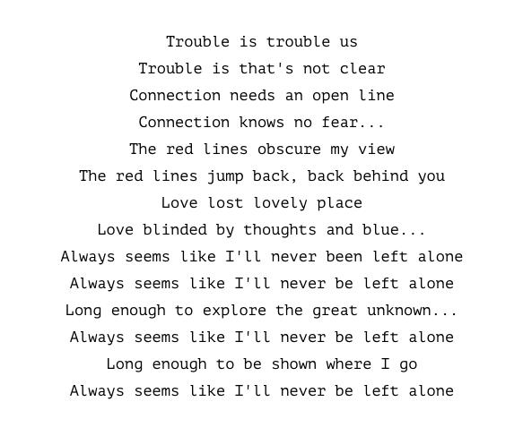 Sohn – Red Lines